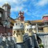 Pena Palace, high above Sintra in Portugal