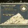 Plaque at Fischer Camp, Mt. Kilimanjaro: On the upper slopes of the Shira Plateau