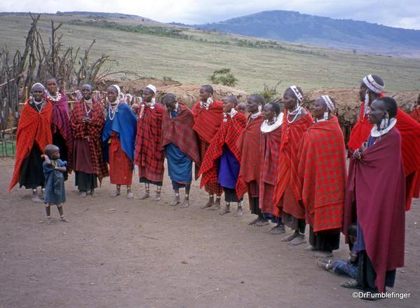 1999 Tanzania 055. Olduvai Gorge. Maasai