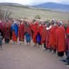 Maasai boma, Tanzania.: Massai women singing a traditional song