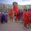 Maasai boma, Tanzania.: The men took turns jumping straight up and to an impressive height