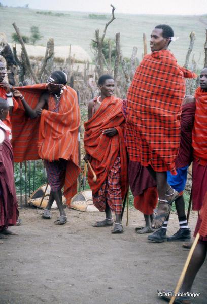 1999 Tanzania 057. Olduvai Gorge. Maasai