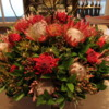 Floral arrangement, Lobby of the Cape Grace Hotel: I love the use of Protea flowers!