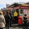 Bæjarins Beztu Pylsur, Reykjavik's famous hot dog stand: They serve sheep hot dogs, which are exceptionally popular and very good!