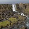 Oxarafoss waterfall and the Oxara River, Thingvellir National Park