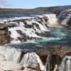 Gulfoss waterfall, Iceland: This photo was taken in the spring, with more snow and less water