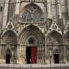 Entrance to the Notre Dame Cathedral, Bayeux France