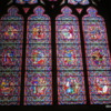 Sample of a stained glass window, Notre Dame Cathedral, Bayeux France