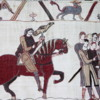 A sample pane of the Bayeux Tapestry, Bayeux, France