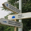 Bratislava street signs: These are very helpful in finding your way around the winding streets of the city