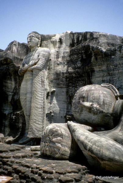 Sri Lanka 2001 081 Polonnaruwa. Gal Vihara