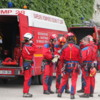Rescue team at Bishop`s Palace, Chartres, France