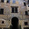 Ceský Krumlov -- Castle interior courtyard: Done in a Renaissance motif