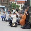 Prague -- band performing on the Charles Bridge