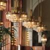 Prague -- Restaurant in the Municipal House: Beautiful art nouveau interior