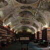 Prague -- Library at Strahov Monastery: Most of the 15,000 books in the library's collection are over 500 years old and hand crafted