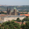 View of Prague Castle and St. Vitus Cathedral from Petrin Tower