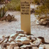 Grave Marker, Boothill Gravelyard in Tombstone Arizona: Cowboy poetry at its finest