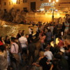 Crowd at the Trevi Fountain, Rome: It's a popular venue with tourists