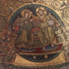 Rome -- Santa Maria Maggiore Church Apse Mosaic: Detail of 13th century mosaic over the altar depicting Mary being crowned by Jesus