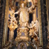 Rome -- Tomb of St. Ignatius of Loyola, Gesu Church: A silver statue that is unveiled only once a day