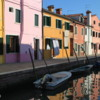 Burano -- Canals at dusk: The island is well know for it's colorful homes