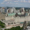 Ottawa -- View from Peace Tower, Chateau Laurier