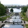 Ottawa -- historic Rideau Canal: Located immediately adjacent to the Chateau Laurier, a series of locks empties the canal into the Ottawa River.