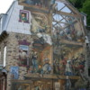 Quebec - La Petit Champlain Blvd in Lower City: One of many beautiful murals scattered throughout the city.