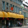 Quebec -- Shops and restaurants on Rue St. Louis