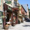 Vieux Quebec: Shops, cafes and restaurants.