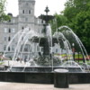 Quebec -- Fontaine de Tourny: A gift to the city from La Maison Simons department stores. A historic and beautiful fountain imported from France