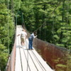 Quebec -- St. Anne Canyon: One of several suspension bridges over the canyon