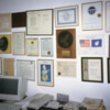 25 Barnes Place, Colombo: Some of the many awards Arthur had receive over the years, on display in his outer office