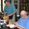 DrFumblefinger and Arthur C. Clarke: Arthur was always very kind in signing my books for me. Dr. Lester Thompson helps out (far left)