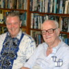 "Neil McAleer and Arthur C. Clarke at 25 Barnes Place: Neil wrote the definitive biography, ""Sir Arthur C. Clarke.  Odyssey of a Visionary"""