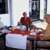 Sir Arthur, Hans Monhemius, Ambassador James Spain (L to R): Three friends having lunch at the Colombo Swimming Club -- all gone now