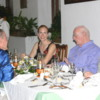 Farewell dinner at the Galle Face Hotel: Arthur enjoyed coming to this hotel.  Here with friends Neil McAleer, Pam and Lester Thompson.