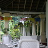 Anuradhapura -- Tissawewa Rest House: The patio on which we enjoyed a fine dinner and breakfast.