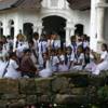 Dambulla -- School children: They were visiting the Cave Temples during the holiday of Vesak.