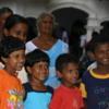 Dambulla -- School children outside of entrance: Beautiful smiles!  Beautiful kids!