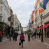 Grafton Street, Dublin, Ireland: A popular pedestrian lane, extremely busy at night