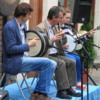 Street musicians, Dublin, Ireland: Believe this was a father and his two children.  They were quite good