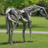 Walla Walla -- Whitman College: A rather interesting sculpture, a horse made of driftwood. We'd seen another by this artist in Portland before.