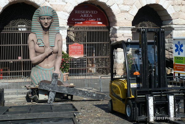 Scenery at Roman Arena, Verona
