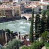 Verona from the Hills, toward Ponte Pietra and S. Anastasia