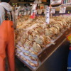 Seattle -- Pike's Place Market: A fishmonger and his crabs