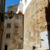 Houses built onto ancient walls