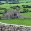 Ruins of a Cistercians Monastery, viewed from the Rock of Cashel