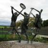 Statue outside the Bru Boru Cultural Center, Cashel, Ireland
